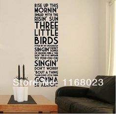 Wall Decor Decal Stickers Quotes Bob Marley Wall Art For Home Bed Room  Decoration Murals Wallpaper Part 61
