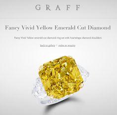 Graff Fancy Vivid Yellow Emerald Cut Diamond