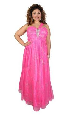 plus size two tone mesh ball gown with satin empire