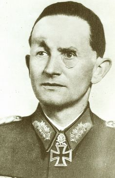 General Dietrich von Saucken (1892-1980). A German cavalry officer in World War I and Panzer commander in Word War II who was wounded seven times. Saucken was one of only 27 recipients of the Knight's Cross of the Iron Cross with Oak Leaves, Swords and Diamonds. He refused to leave his men in April 1945, surrendered with them to the USSR and spent 10 years as a POW. He famously snapped at Hitler and refused to follow his orders during a command meeting - Hitler gave in and changed the…