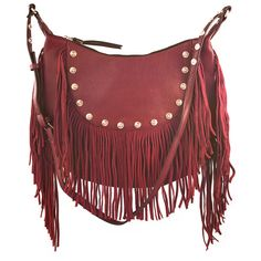 Liquorish Red Fringed Cross Body Bag (195 ILS) ❤ liked on Polyvore featuring bags, handbags, shoulder bags, red, red purse, crossbody handbags, red shoulder bag, fringe shoulder bag and fringe crossbody