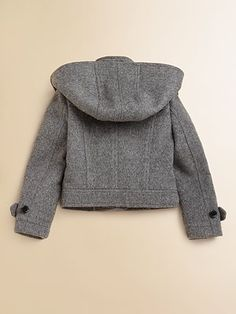 Burberry - Girl's Cropped Duffle Coat - Saks.com