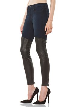 J Brand  Denim Leather Combo Skinny in Klash