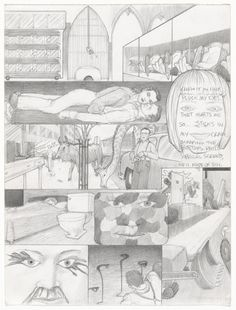 Jim Shaw Dream Drawing (In Reno there was a Titanic mockup where a girl...) 1998