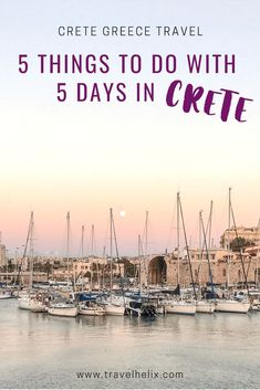 5 things to do in Crete, Greece. Only have 5 days in Crete? Check out our Crete Travel Guide and start planning your holiday! From sunsets to beaches, to wineries and hikes, we've got you covered for your Crete Greece Vacation. Greek Islands Vacation, Greece Vacation, Greece Travel, Vacation Resorts, Vacation Spots, Europe Destinations, Europe Travel Guide, Travel Guides, Asia Travel
