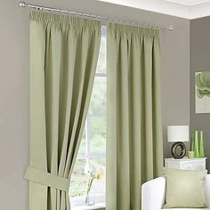 Green Solar Blackout Pencil Pleat Curtains | Dunelm. 90x90, 69.00