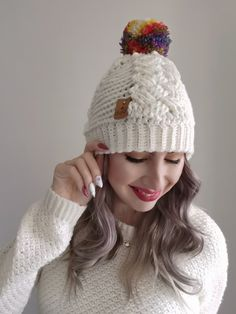 Lee's Cabled Beanie - Free Crochet Pattern -CoCo Crochet Lee Crochet Cable, Crochet Hooks, Free Crochet, Crochet Animal Hats, Crochet Beanie, Knitted Beanies, Crocheted Hats, Hat And Scarf Sets, Easy Stitch