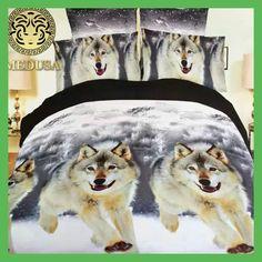 Wolf King/Queen/Twin Size Bedding Set of Duvet/Cover Bed Sheet Pillowcases Bed Linen Set. Features: Pillowcase And Duvet Cover Sets. King Size Duvet Covers, Comforter Cover, Queen Bedding Sets, Duvet Bedding, Bed Duvet Covers, Bedspread, Comforter Sets, Duvet Cover Sets, Linen Bedding