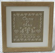 Personalised Wedding Sampler  Instant by ClementinesNeedle on Etsy, £5.50