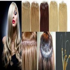 Extensions de cheveux naturels à froid Easy loop ou loops  0.6 g  49 cm
