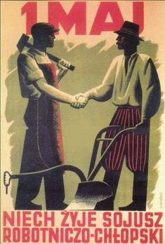 PLAKAT PRL-u Poland Country, International Workers Day, I Will Remember You, Graphic Illustration, The Past, Jokes, Graphic Design, Humor, Face