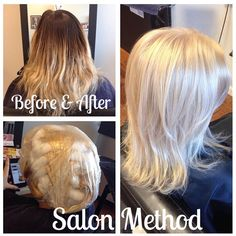 Previously ombré, this client wanted to be blonde, blonde, BLONDE!