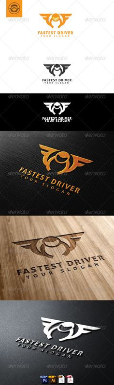 Fastest Driver Logo Template #GraphicRiver Fastest Driver Logo Template is An excellent logo template highly suitable for logo company, office, organization, cafe, restaurant, coffee shop These files consists of resizable vector format files like AI, EPS , and PDF . Also PSD format for raster version alternative. font used Aller Created: 21May13 GraphicsFilesIncluded: PhotoshopPSD #VectorEPS #AIIllustrator Layered: Yes MinimumAdobeCSVersion: CS Resolution: Resizable Tags: bird #branding…