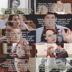 """""""Here's to the best edit I've ever made. Here's to Nathan and Haley Scott. Here's to one of the greatest love stories ever told. Cheers . {#onetreehill…"""""""
