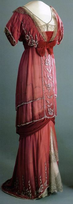 Queen Maud of Norway's Red Evening Gown - 1910-13 - Style and Splendour - Victoria and Albert Museum