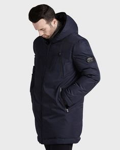 Livorno Down Jacket Man. This winter coat is made with 200 recycled plastic bottles.