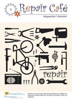 Repair-Café | JUKUZ Aschaffenburg Arabic Calligraphy, Posters, Workshop, Poster, Postres, Arabic Calligraphy Art, Movie Posters