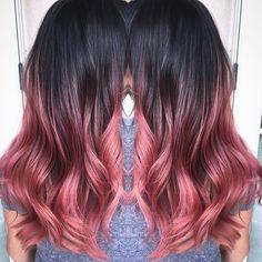 Rose Gold ombré  #hairbymariana
