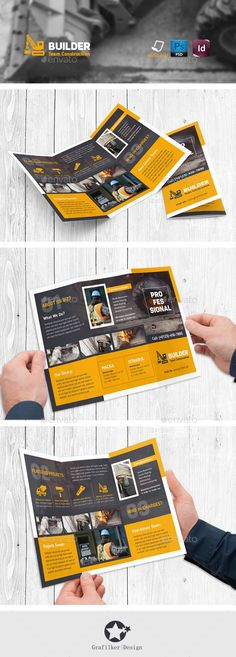 Construction Tri-Fold Brochure Templates #design Download: http://graphicriver.net/item/construction-trifold-templates/11467139?ref=ksioks