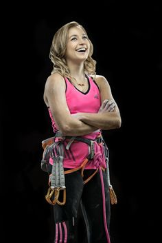 Sasha DiGiulian, the first American woman to climb Photo: Corey Rich Climbing Workout, Feminine Mystique, Sporty Girls, Climbers, Rock Climbing, American Women, Sports Women, The One, Athlete
