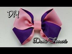 Laço muito fácil sem gabarito - Tutorial passo a passo - Ribbon bow hair - Dani Ferrari. - YouTube