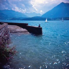 Lake Thun, Canton of Berne, Switzerland Zurich, Lake Thun, Swiss Alps, Dream Vacations, Places To See, Beautiful Places, Scenery, Germany, Around The Worlds