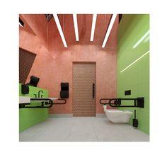 Public toilets with additional program : coffee bar ,bike pit stop , summer cinema . City of Greater Słupsk / Poland designed by FAAR architekci Toilets, Poland, Competition, Cinema, Public, Bike, Coffee, Summer, Design