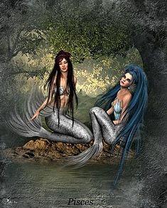 Ali Oppy - Zodiac Pisces Zodiac Art, Pisces Zodiac, Zodiac Signs, Capricorn, Your Spirit Animal, Feeling Sick, Mermaid Art, Pretty Art, Fantasy Creatures