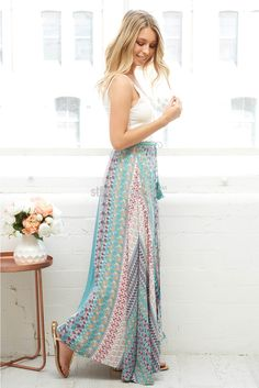 Shelley Maxi Dress in Turquoise Mosaic  | St. Frock