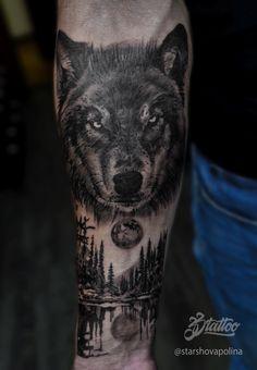 Фото тату Полина Старшова - Тату волки на предлечьях Cool Arm Tattoos, Wolf Tattoos, New Tattoos, Tatoos, Wolf Tattoo Design, Tattoo Designs, Forest Tattoos, Religious Tattoos, Artwork Design