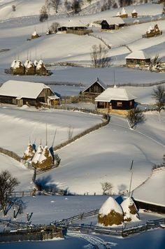 Șureanu Mountains Romania by Catalin Pomeanu . Relax with this nature photo. Winter Szenen, Visit Romania, Romania Travel, Voyage Europe, Winter's Tale, Snow Scenes, Winter Beauty, Winter Pictures, Winter Photography