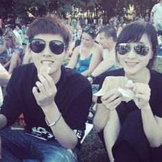 [140630] Xu Jinglei's IG update with Yifan and his leading girl ^^