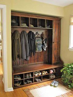 Furniture , Entryway Furniture Ideas : Entryway Furniture Traditional Barnwood Wardrobe Unit