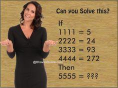 find the value of missing number 1111 5