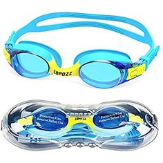 8c954485299 COPOZZ Swimming Goggles Kids Age Waterproof Swimming Glasses Clear Anti-fog  UV Protection Soft Silicone Frame and Strap