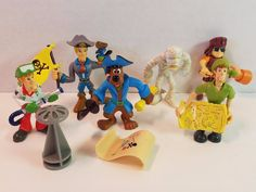 Scooby-Doo Pirate Action Figures Shaggy Ghostbusters Fred Mummy Velma Toy Lot