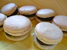 Ginger Macarons with Dark Chocolate Port Ganache - using aged egg whites