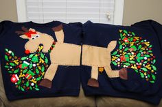 So this year, Blake and I both had company Christmas parties with an ugly Christmas sweater theme. I go big or go home, so it had to be perfect. And so when I stumbled upon a couple's sweater conce...
