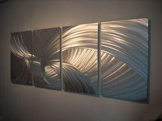 Metal Wall Art Decor Aluminum Abstract Contemporary Modern Sculpture Hanging Zen Textured- Tempest by Miles Shay Contemporary Metal Wall Art, Abstract Metal Wall Art, Metal Wall Art Decor, Modern Wall Decor, Diy Wall Decor, Metal Art, Decor Room, Wood Wall, Contemporary Design