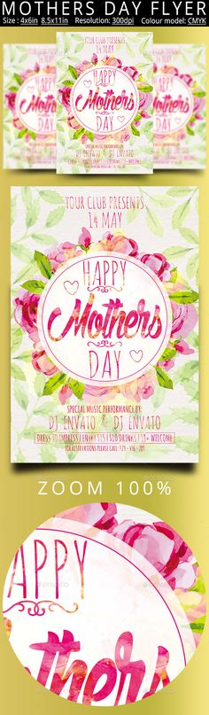 Mothers Day Flyer Template PSD