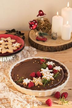 Cakes And More, Christmas Cookies, Holiday Recipes, Cupcake Cakes, Tart, Vegan Recipes, Merry Christmas, Food And Drink, Christmas Decorations