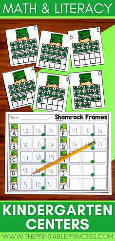 This packet includes 6 math and literacy centers and 6 extra no-prep practice pages with a fun St. Patrick's Day theme. You'll find shamrocks, pots of gold, gold coins and rainbows while learning through rhyming, CVC focus, using addition, tens frames, and more! Activities are hands-on, interactive, engaging and perfect for Kindergarten!