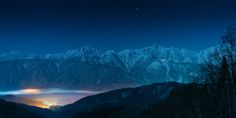 Hida Mountains and Hakuba Village by shinichiro@OSAKA 白馬村 http://flic.kr/p/CWeHNd