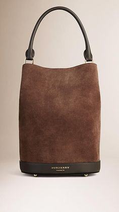 Bitter chocolate The Bucket Bag in Suede - Image 1