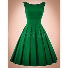 ccc2fe187e2e zelené retro šaty s ačkovou sukňou. Sweetlady · Jednofarebné vintage šaty