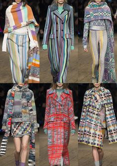 Missoni_AW1617 - Tartan Knits – Horizontal Stripes – Chunky Marl – Striped Diamond Pattern – Patched Pattern Mixes – Luxe Fringes – Lacey Knit – Vertical Candy Stripe