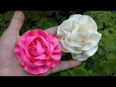 110) Tutorial Ribbon Rose || Ribbon Flower || Aplikasi Mawar Pita Grosgrain - YouTube