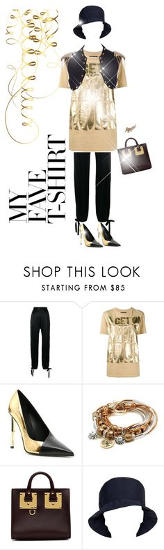 """""""t-shine"""" by gulokmini ❤ liked on Polyvore featuring Alexis, House of Holland, Balmain, Lizzy James, Sophie Hulme, Prada and MyFaveTshirt"""