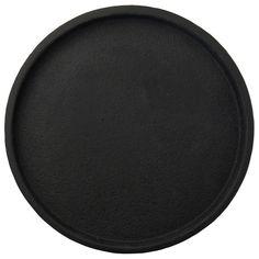Zakkia Concrete Round Tray - Black