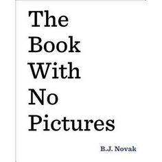 A book with no pictures?   What could be fun about that?  After all, if a book has no pictures, there's nothing to look at but the words ...
